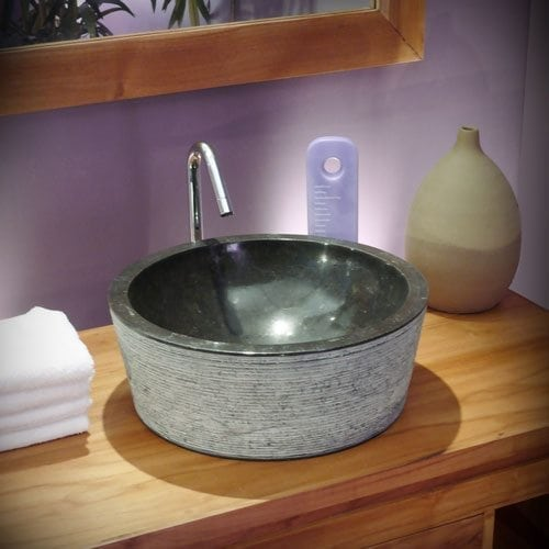 A Black Marble Washbasin